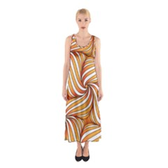 Sunny Organic Pinwheel Full Print Maxi Dress by Zandiepants