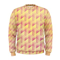 Geometric Pink & Yellow  Men s Sweatshirt by Zandiepants