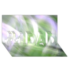 Green And Purple Fog #1 Dad 3d Greeting Card (8x4)  by timelessartoncanvas
