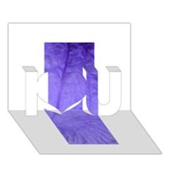 Purple Modern Leaf I Love You 3d Greeting Card (7x5)  by timelessartoncanvas
