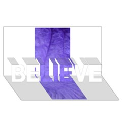 Purple Modern Leaf Believe 3d Greeting Card (8x4)  by timelessartoncanvas