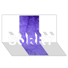 Purple Modern Leaf Sorry 3d Greeting Card (8x4)  by timelessartoncanvas