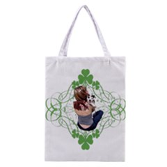 Pit Bull T Bone Lucky Puppy Classic Tote Bag by ButThePitBull
