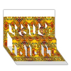 Roof555 You Did It 3d Greeting Card (7x5)