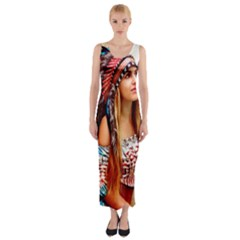 Indian 21 Fitted Maxi Dress by indianwarrior