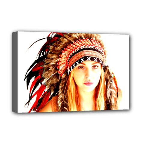 Indian 3 Deluxe Canvas 18  x 12   by indianwarrior