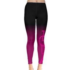 Zouk Pink/purple Women s Leggings by LetsDanceHaveFun