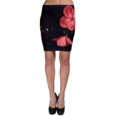Mauve Roses 1 Bodycon Skirts by timelessartoncanvas