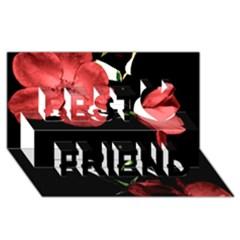 Mauve Roses 4 Best Friends 3d Greeting Card (8x4)  by timelessartoncanvas