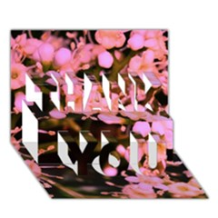 Little Mauve Flowers Thank You 3d Greeting Card (7x5)  by timelessartoncanvas