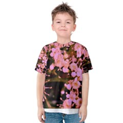 Little Mauve Flowers Kid s Cotton Tee