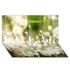 Little White Flowers Engaged 3d Greeting Card (8x4)  by timelessartoncanvas