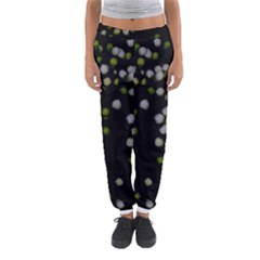 Little White And Green Dots Women s Jogger Sweatpants by timelessartoncanvas