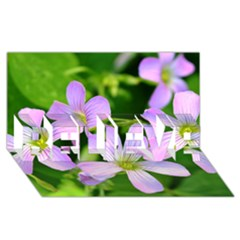 Little Purple Flowers 2 Believe 3d Greeting Card (8x4)  by timelessartoncanvas