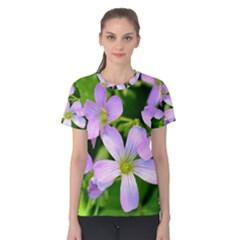 Little Purple Flowers 2 Women s Cotton Tee by timelessartoncanvas