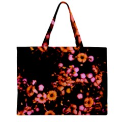 Little Peach And Pink Flowers Zipper Mini Tote Bag by timelessartoncanvas