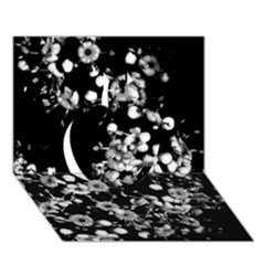 Little Black And White Flowers Apple 3d Greeting Card (7x5)  by timelessartoncanvas