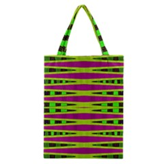 Bright Green Pink Geometric Classic Tote Bag by BrightVibesDesign