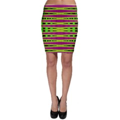 Bright Green Pink Geometric Bodycon Skirts by BrightVibesDesign