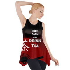 Keep Calm And Drink Tea   Dark Asia Edition Side Drop Tank Tunic by RespawnLARPer