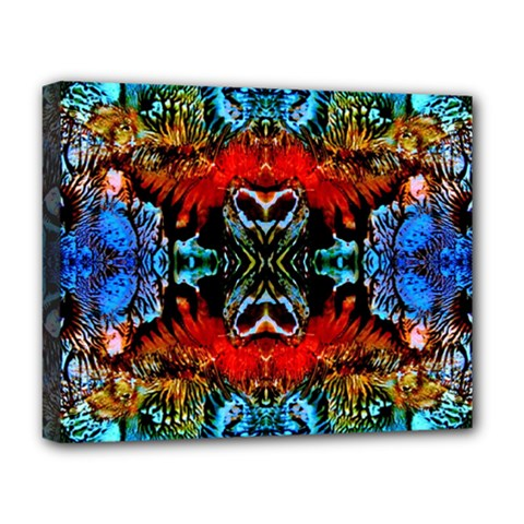 Colorful  Underwater Plants Pattern Deluxe Canvas 20  X 16   by Costasonlineshop