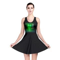 Keep Calm And Visit Hangar 7  Reversible Skater Dress by RespawnLARPer