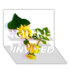 Margaritas Bighop Design You Are Invited 3d Greeting Card (7x5)  by bighop