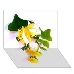 Margaritas Bighop Design Ribbon 3D Greeting Card (7x5)  by bighop