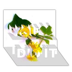 Margaritas Bighop Design You Did It 3D Greeting Card (7x5) by bighop