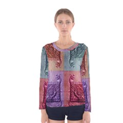 Vintage Flower Squares Women s Long Sleeve Tee by BrightVibesDesign