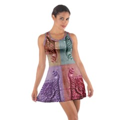 Vintage Flower Squares Racerback Dresses by BrightVibesDesign