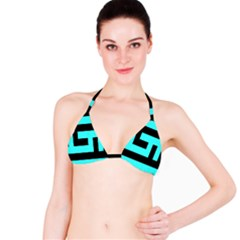 Black And Teal Bikini Top by timelessartoncanvas