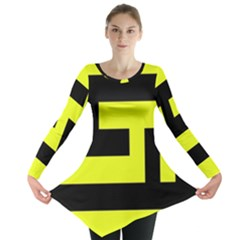 Black and Yellow Long Sleeve Tunic  by timelessartoncanvas