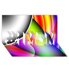 Psychedelic Design #1 Mom 3d Greeting Cards (8x4)  by timelessartoncanvas