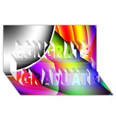 Psychedelic Design Congrats Graduate 3d Greeting Card (8x4)  by timelessartoncanvas