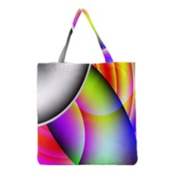 Psychedelic Design Grocery Tote Bag by timelessartoncanvas