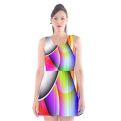 Psychedelic Design Scoop Neck Skater Dress by timelessartoncanvas