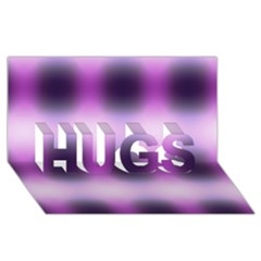 New 3 Hugs 3d Greeting Card (8x4)  by timelessartoncanvas