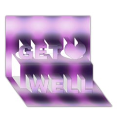 New 3 Get Well 3d Greeting Card (7x5)  by timelessartoncanvas
