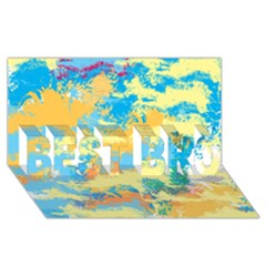 Abstract #5 Best Bro 3d Greeting Card (8x4)  by Uniqued