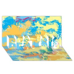 Abstract #5 Best Sis 3d Greeting Card (8x4)  by Uniqued