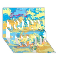 Abstract #5 Thank You 3d Greeting Card (7x5)  by Uniqued
