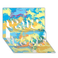 Abstract #5 You Rock 3d Greeting Card (7x5)  by Uniqued
