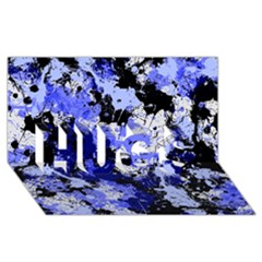 Abstract #7 HUGS 3D Greeting Card (8x4)  by Uniqued