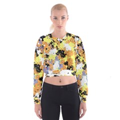 Abstract #9 Women s Cropped Sweatshirt by Uniqued