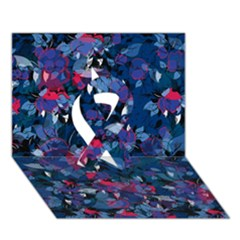Abstract Floral #3 Ribbon 3D Greeting Card (7x5)  by Uniqued