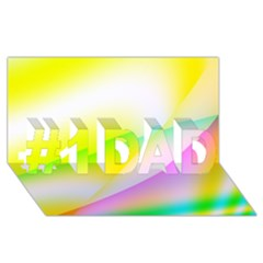 New 4 #1 Dad 3d Greeting Card (8x4)  by timelessartoncanvas