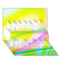 New 4 You Rock 3d Greeting Card (7x5)  by timelessartoncanvas