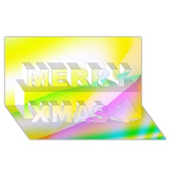 New 4 Merry Xmas 3d Greeting Card (8x4)  by timelessartoncanvas