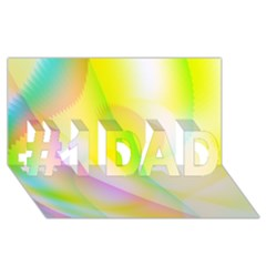 New 5 #1 Dad 3d Greeting Card (8x4)